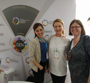 The Canadians at Global Entrepreneurship Congress - Amanda, Aksinia and Rebecca